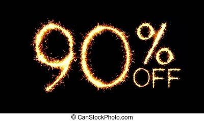 90% Off Text Sparkler Glitter Sparks Firework Loop Animation...