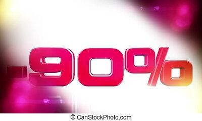 90 percent OFF 01 - 90 percent OFF discount animation