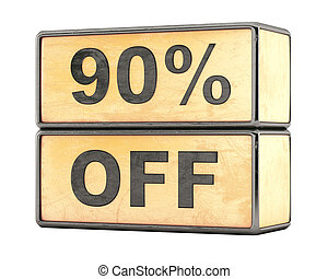 90 percent sale discount
