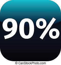 90, percento, icona