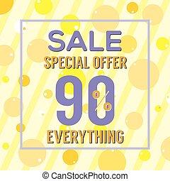 90, percento, speciale, offerta