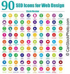 90, seo, heiligenbilder, für, netz- design, kreis