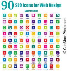 90, seo, heiligenbilder, für, netz- design, quadrat