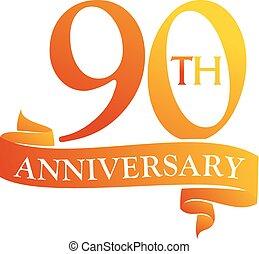 90 Year Ribbon Anniversary