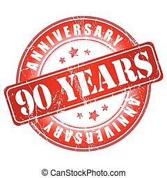 90 years anniversary stamp.
