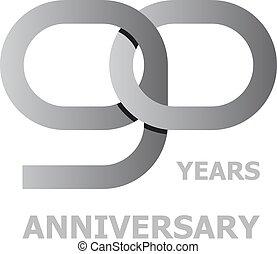 90 years anniversary symbol