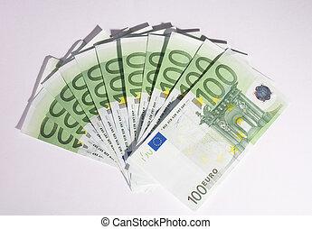 900 Euro - blower of hundred euro- bills