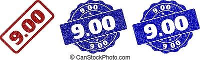 9.00 Scratched Stamp Seals