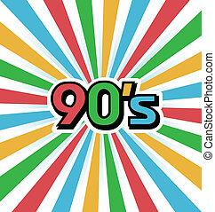 90s, ベクトル, 背景, 型