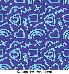 90s pattern blue purple vector