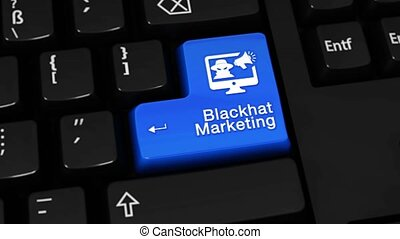 91. Blackhat Marketing Rotation Motion On Computer Keyboard...