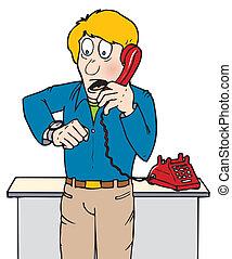 911 call - A man calling 911
