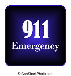 911, emergencia, icono
