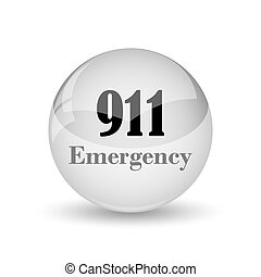 911 Emergency icon. Internet button on white background