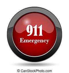 911 Emergency icon. Internet button on white background.