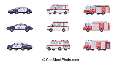 911 emergency vehicles set