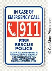 911, hidkalde, transparent, baggrund, tegn