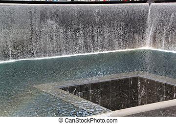 9/11 Memorial. New York. Fountain. Honored.