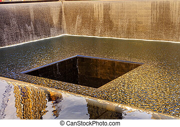 911 Memorial Pool Fountain Waterfall New York NY