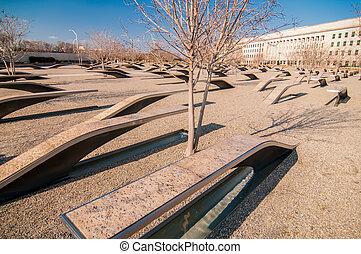 911, minnesmärke, offer, pentagon, angrepp, in, arlington, virginia, in, den, washington washington dc, metropolitansk, area.