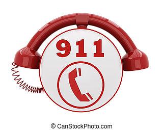 911, nødsituation, hidkalde, antal