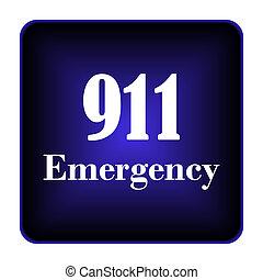 911, notfall, ikone