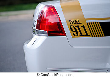 911 on the cop's car