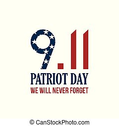 9.11 Patriot Day card. We will never forget.