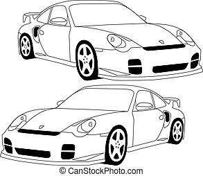 911 Porsche illustrated