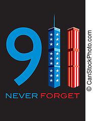 911, soha, elfelejt