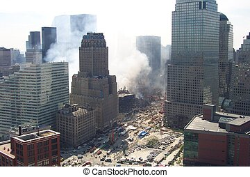 9/18/01 - the world trade center one week later