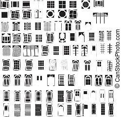 Windows & Doors - 92 Vectors Windows & Doors