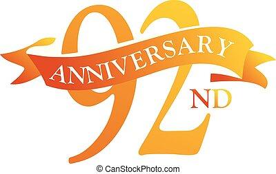 92 Year Ribbon Anniversary