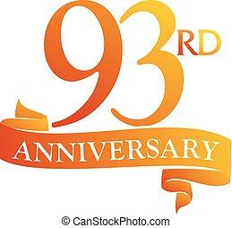 93 Year Ribbon Anniversary