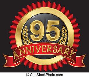95, anni, anniversario, dorato