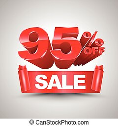 95 percent off sale red