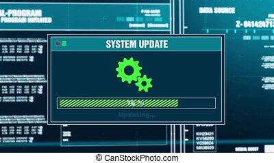 97. System Updating Progress Warning Message System Updated...