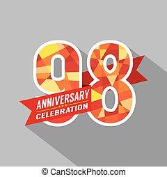 98th, jaren, jubileum, celebration.