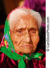 99, navajo, mujer, viejo, año