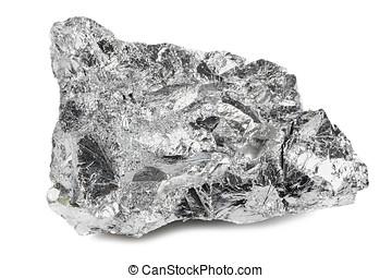 chromium - 99.9% fine chromium isolated on white background