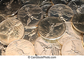 999 pure silver coins - many pure silver coins from mexico...