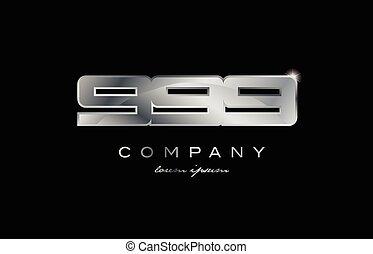 999 silver metal number company design logo - 999 metal...