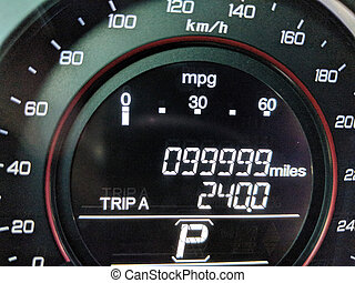 99,999 Miles on Odometer - 1 Mile before car odometer turns...