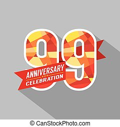 99th, jaren, jubileum, celebration.