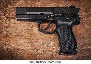 9mm, pisztoly, kéz