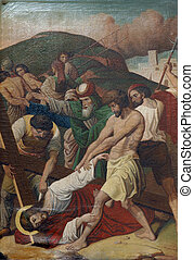 9th Stations of the Cross, Jesus falls the third time