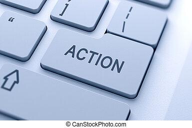 ação, botão