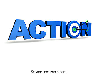 ação, conceito, alvo, negócio