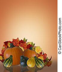 ação graças, outono, fundo