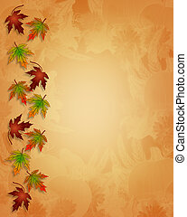 ação graças, outono, outono, fundo